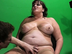 BBW gets her fat hole domesticated onwards cock riding