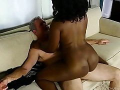 Awesome ebony obesity enjoys a hardcore sex boxing-match and a sticky facial