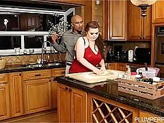 Plumper Savana Blue Sucks Big Black Cock In the Pantry