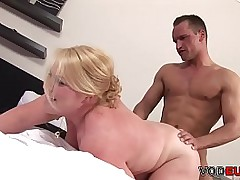German BBW gets cum in the first place her face