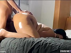 Oiled BBW Moonless Fuck BTS