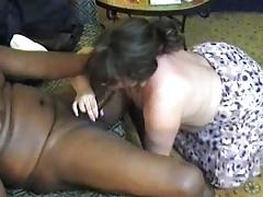 BBW wife on a black cock