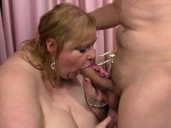 Hot chubby bbw is picked with by non-native