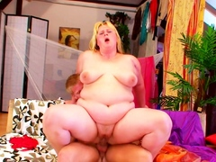 STEP SON Jolly along chubby BBW Mama to Turtle-dove when Dad is on work