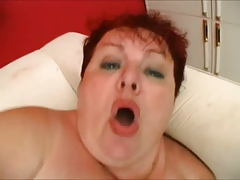 bbw redhead mature suck and  fuck with young cock