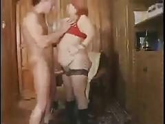 Redhead BBW Granny Fucked