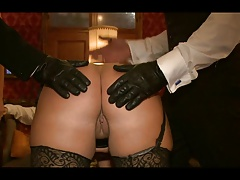 BBW Kait Snow receives spanking