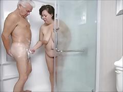 Silver Stallion and Tammy Shower Fun