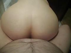lay anal creampie,my wife riding on me-por el culo