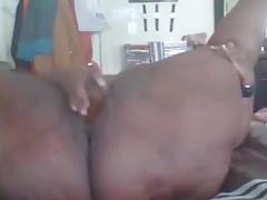 Ebony BBW masturbates