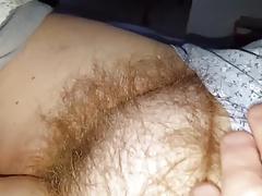 white cotton pantys,hairy bush, tits