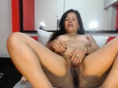 Curvy Webcam Latina Masturbates To Go down retreat from