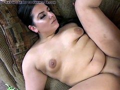 Chubby brunette Stella Carter gets her buxom pussy pounded