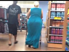 Mr Big Jiggly BBW Pawg Milf in Blue Dress
