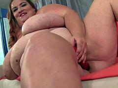 Big titted fatty Kayla masturbates