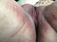 Self cunt spanking