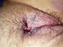 Wifes hairy used pussy red and swollen pt3