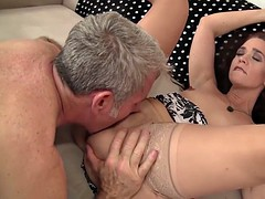 grandma dark-complected renae fucked close to fat cock