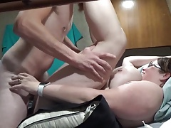Bbw wife obtaining fucked and creampied hunt for 5
