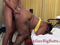 (re-upload) bbw ebony brazilian gets doggystyled (re-upload)