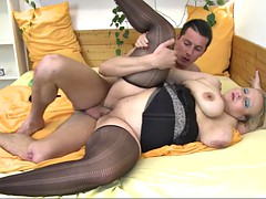 chubby blonde can't wait nigh get pounded by his pulsating boner